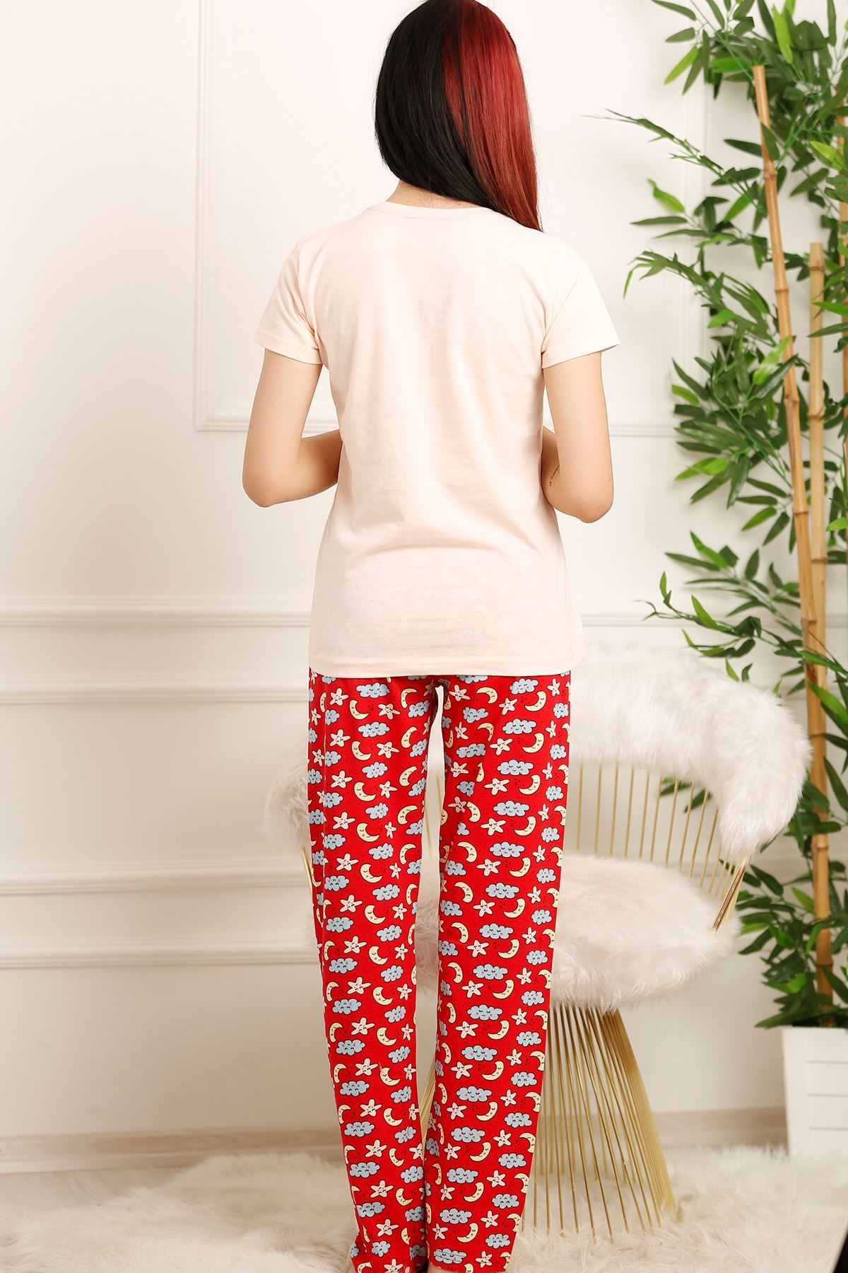 Kadın Pijama Takımı Pudra - 2459.1059.