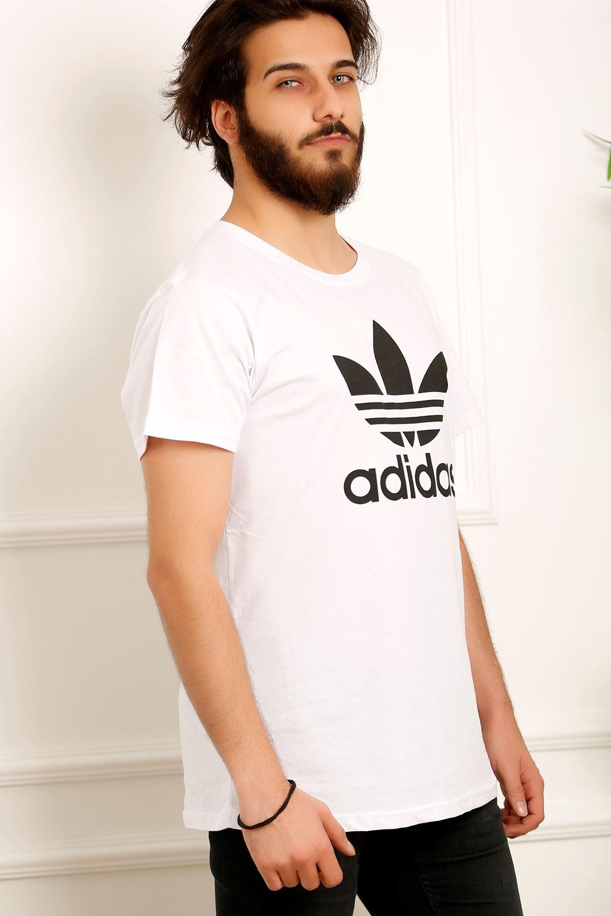 Erkek Baskılı Tişört Beyaz - 3696.1005. - i.t