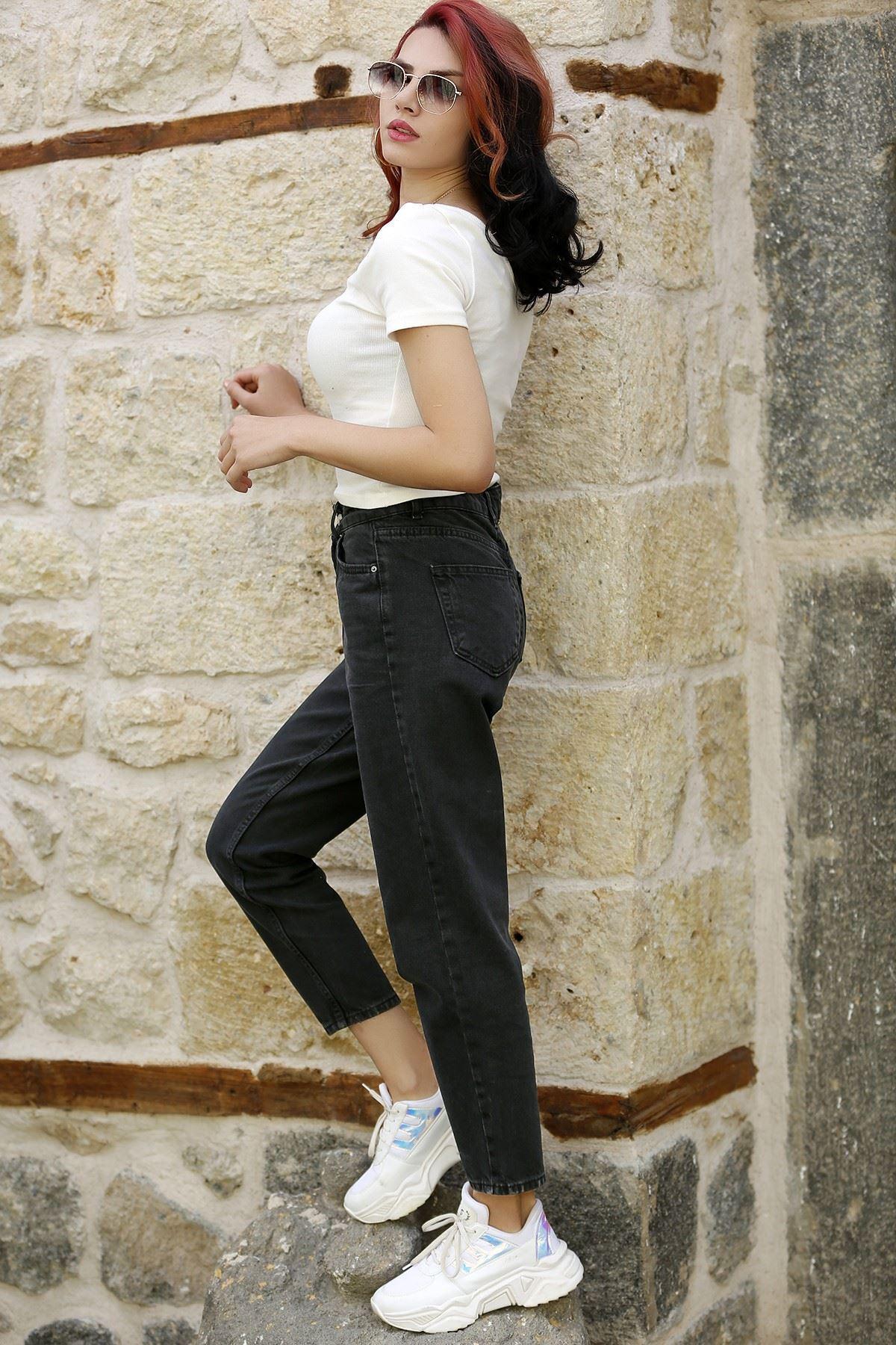 Kadın Mom Jeans Füme - 2411.392. - k.p