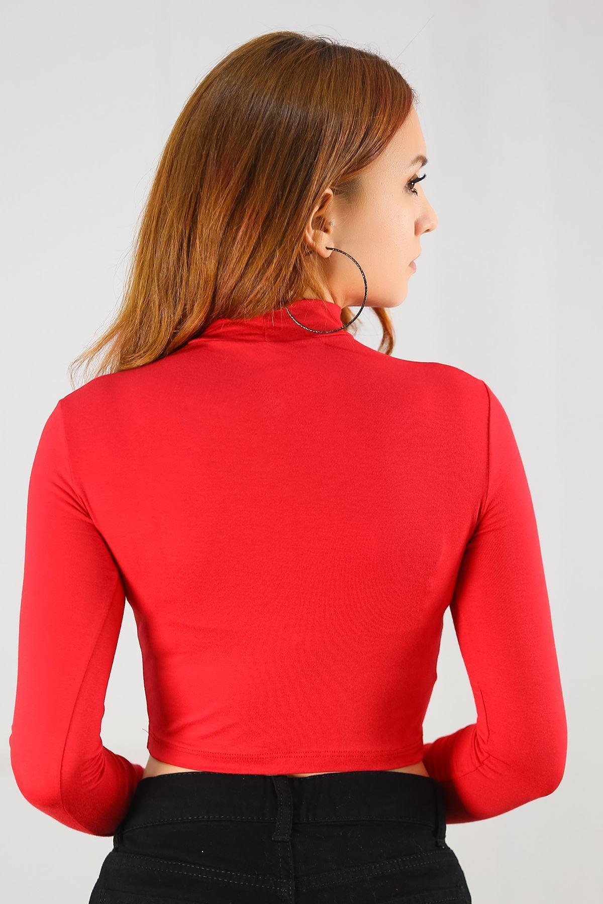 Crop Bluz Kırmızı - 1134.1212.