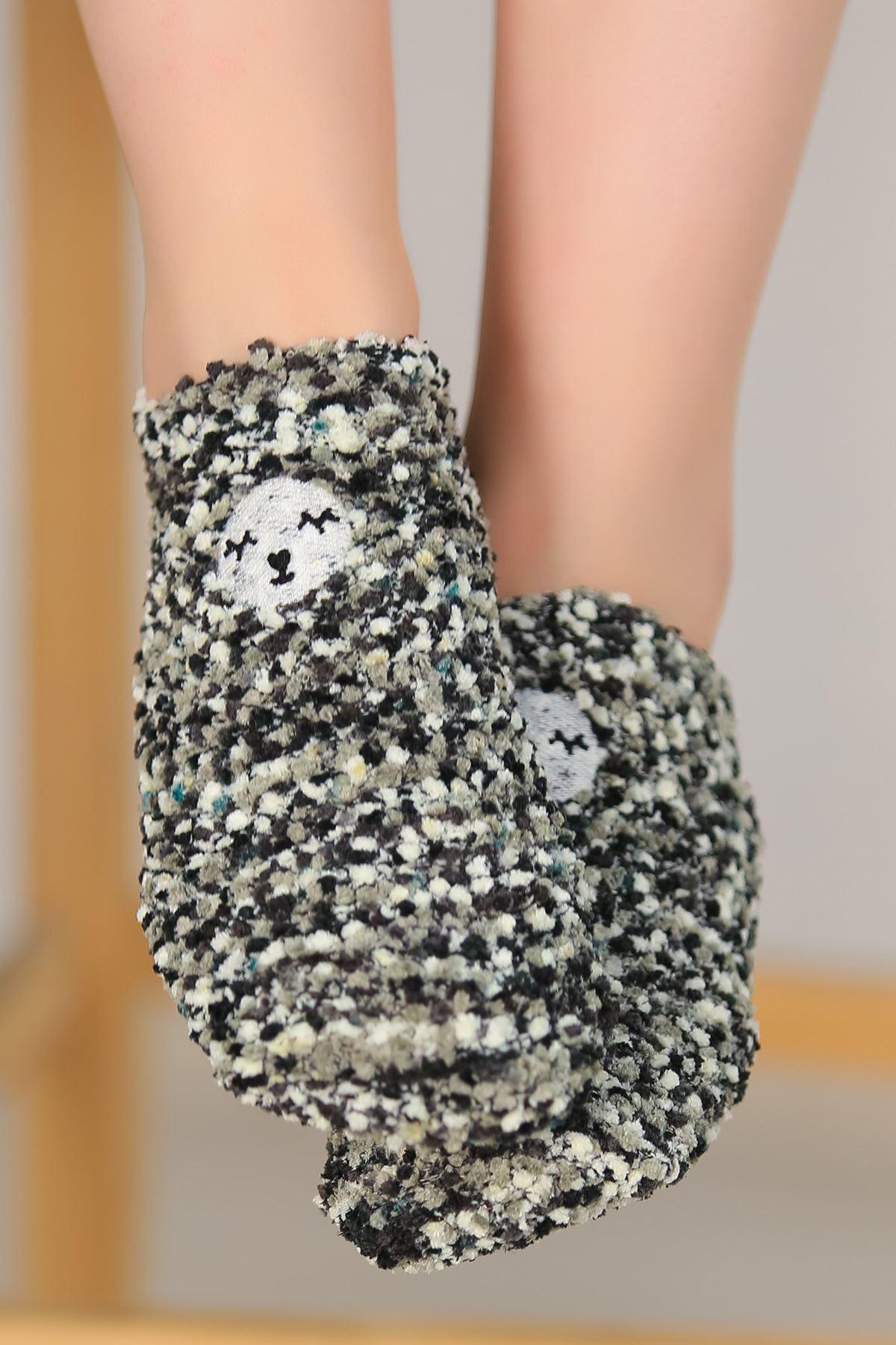 Ponponlu Çorap Siyah - 48950.1114.