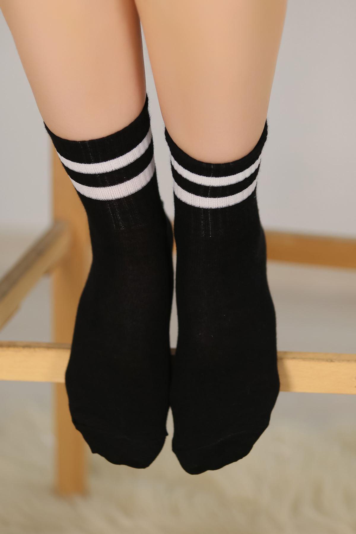 Soket Çorap Siyahçizgili - 10101.1114.