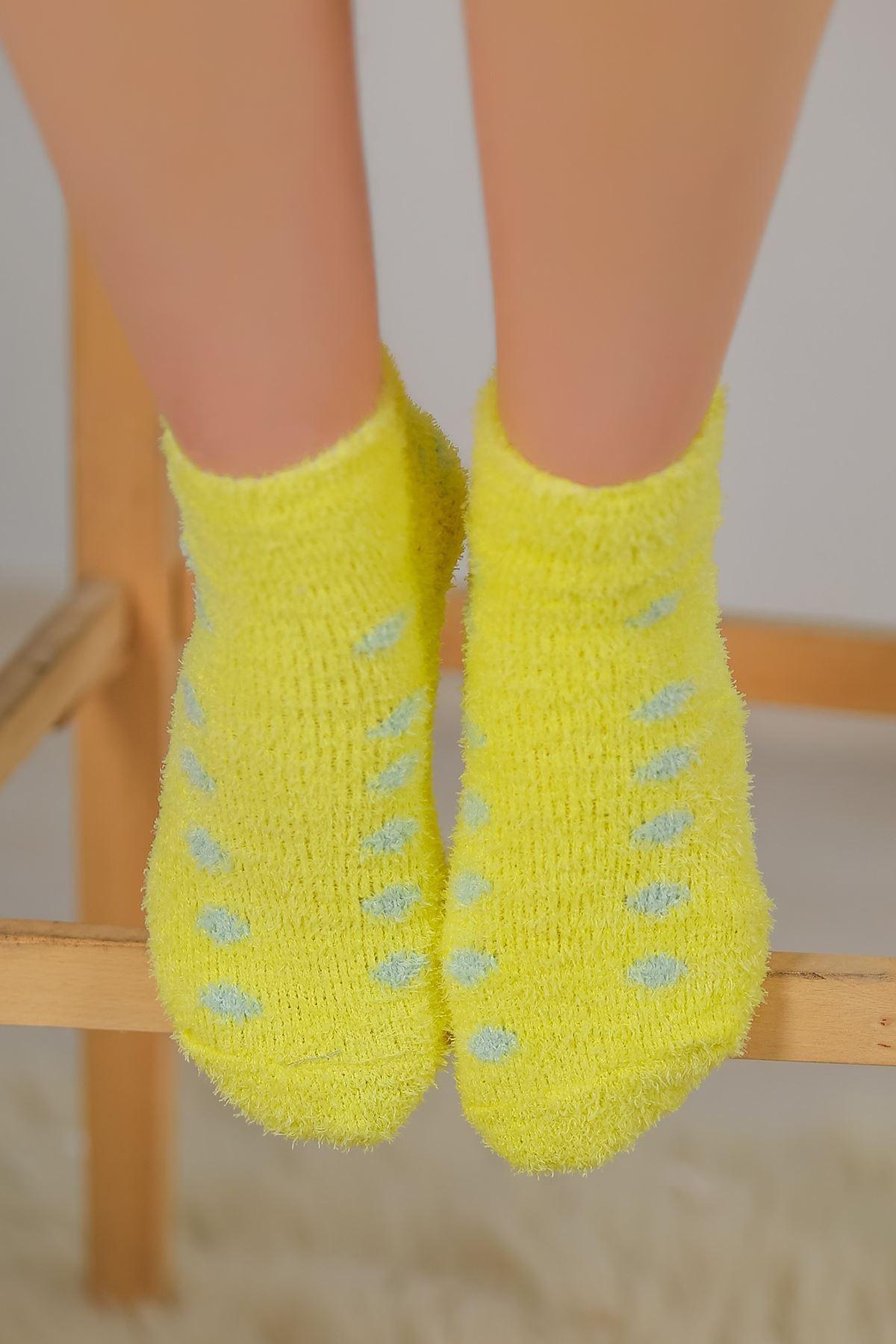 Puanlı Havlu Çorap Sarı - 48500.1114.