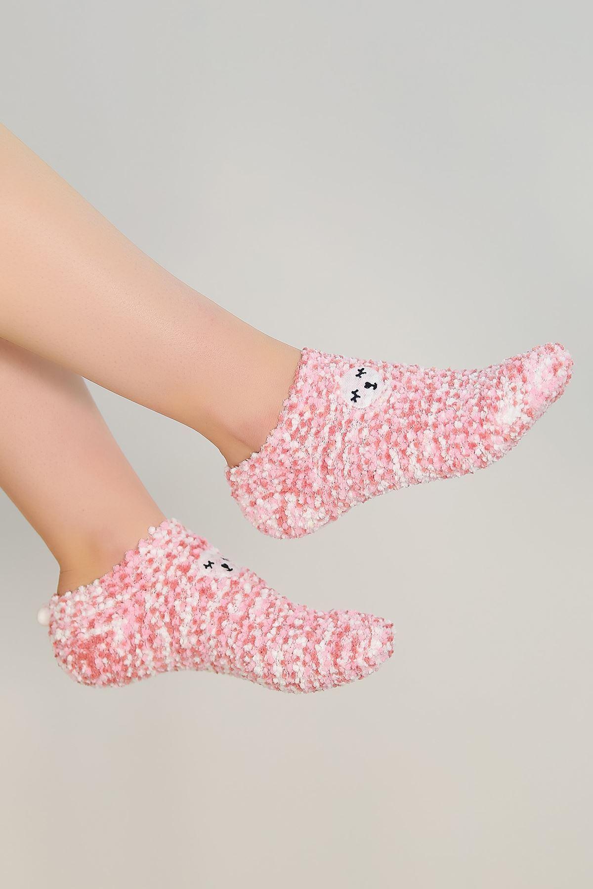 Ponponlu Çorap Pembe - 48950.1114.