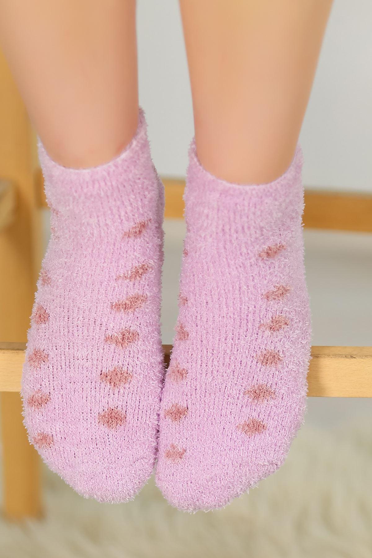 Puanlı Havlu Çorap Lila - 48500.1114.