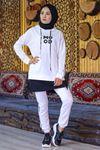 Tunik Eşofman Takımı Beyaz - 4381.102.